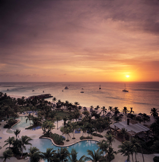 The Radisson Aruba Beach at Sunset